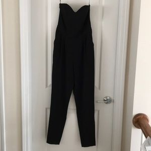 H&M Black Strapless Jumpsuit